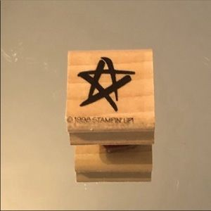 ✨3/$15 Stampin' Up 1998 Sketched Star Stamper